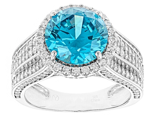 Photo of Bella Luce ® 7.53ctw Neon Apatite And White Diamond Simulants Rhodium Over Sterling Silver Ring - Size 10