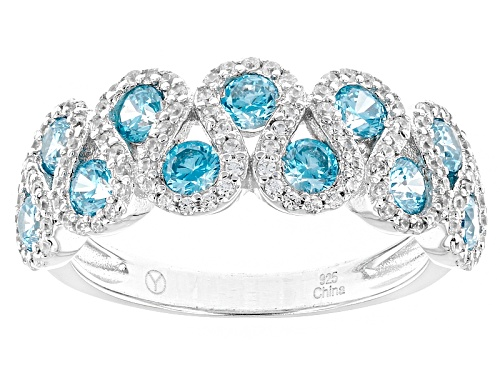 Photo of Bella Luce ® 2.20ctw Neon Apatite And White Diamond Simulants Rhodium Over Sterling Silver Ring - Size 12