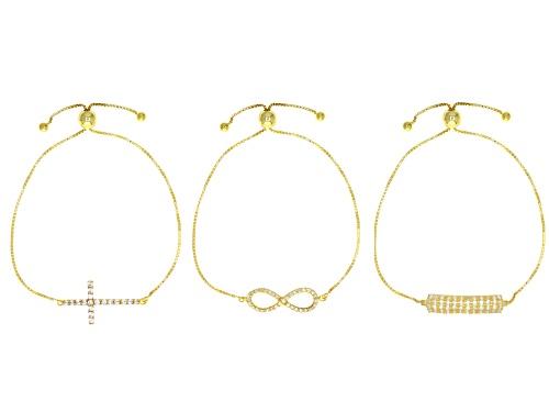 Photo of Bella Luce® 3.44ctw Eterno™ Yellow Adjustable Bracelets - Set of 3