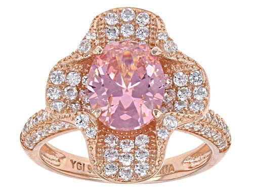 Photo of Bella Luce ® 5.90ctw Pink And White Diamond Simulants Eterno ™ Rose Ring - Size 7