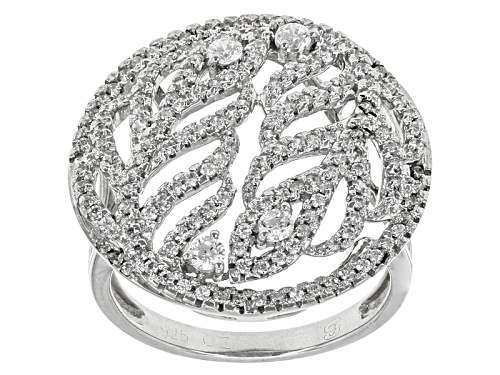 Bella Luce ® 3.10ctw Rhodium Over Sterling Silver Ring - Size 6