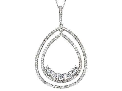 Photo of Bella Luce ® 2.72ctw Rhodium Over Sterling Silver Pendant With Chain