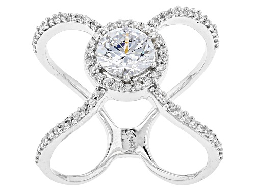 Photo of Bella Luce ® 1.38ctw Rhodium Over Sterling Silver X Ring - Size 5