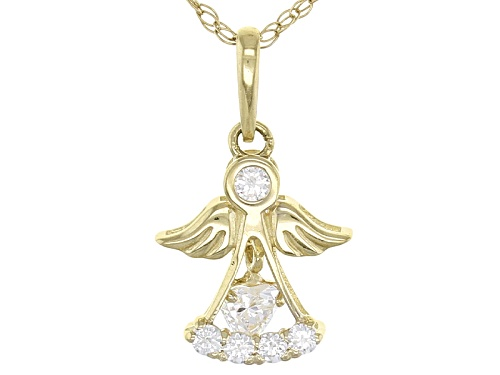 Photo of Bella Luce ® .23ctw 10k Yellow Gold Angel Pendant With Chain