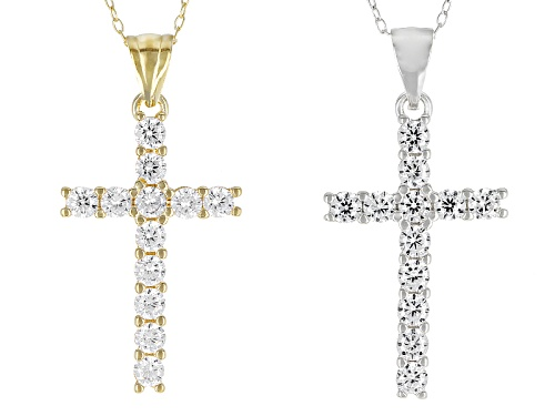 Photo of Bella Luce ®2.64ctw Eterno™Yellow And Rhodium Over Sterling Silver Pendant With Chain- Set Of 2