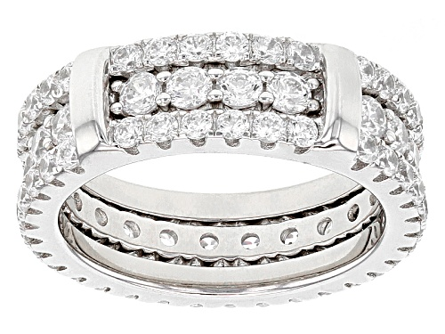 Photo of Bella Luce ® 4.84ctw Rhodium Over Sterling Silver Ring With Guard - Size 5