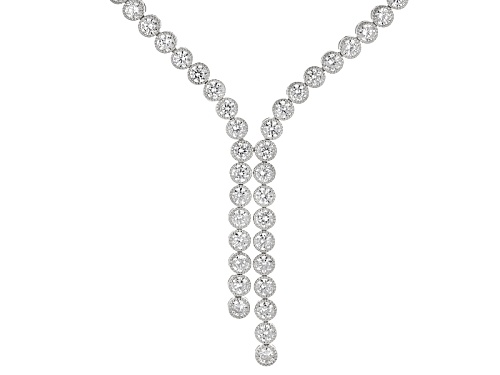 Photo of Bella Luce ® 12.00ctw Rhodium Over Sterling Silver Necklace - Size 18