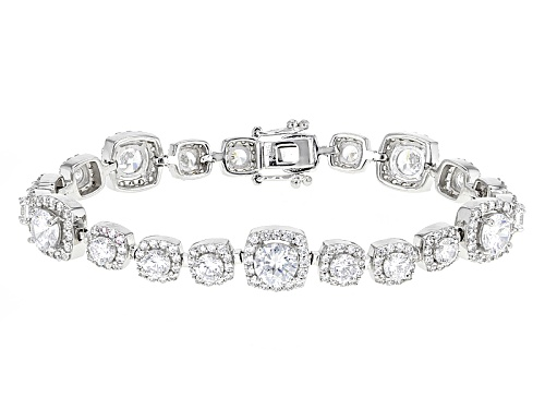 Photo of Bella Luce ® 20.00ctw Rhodium Over Sterling Silver Bracelet (12.06ctw Dew) - Size 7