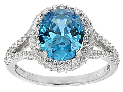 Photo of Bella Luce®Esotica ™5.48ctw Neon Apatite And White Diamond Simulants Rhodium Over Sterling Ring - Size 12