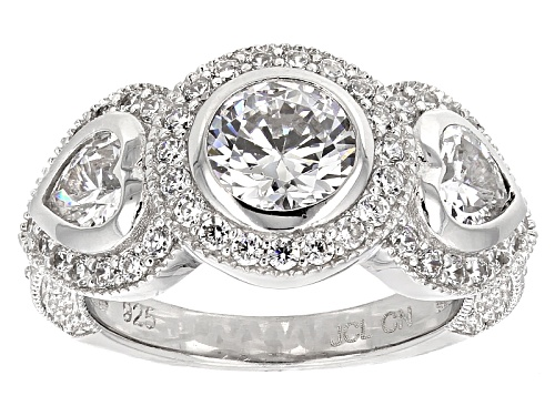 Photo of Bella Luce ® 4.80ctw Rhodium Over Sterling Silver Heart Ring - Size 11