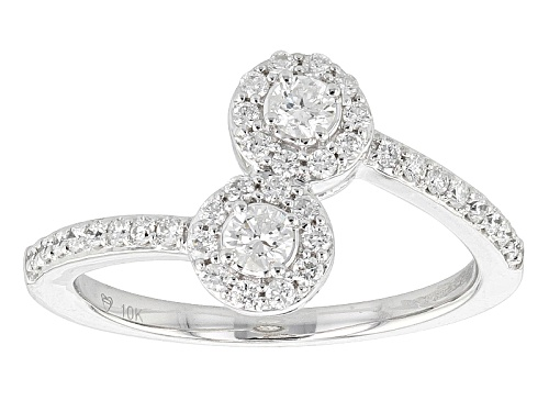 Photo of .47ctw Round White Diamond 10k White Gold Ring - Size 7