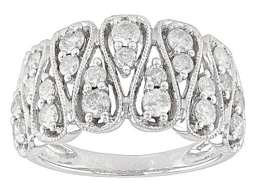 Photo of 1.00ctw Round White Diamond 10k White Gold Band Ring - Size 7