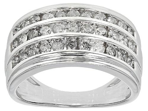 Photo of 1.00ctw Round White Diamond 10k White Gold Ring - Size 8