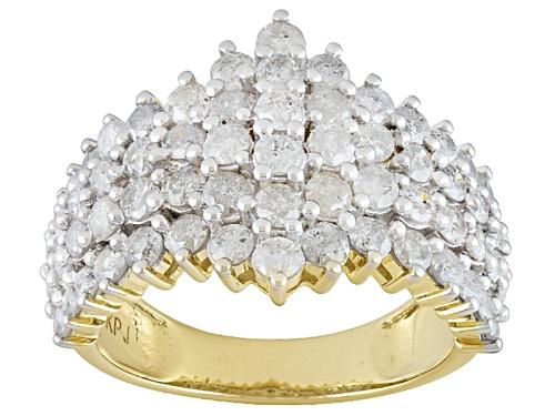 Photo of 2.50ctw Round White Diamond 10k Yellow Gold Ring - Size 6