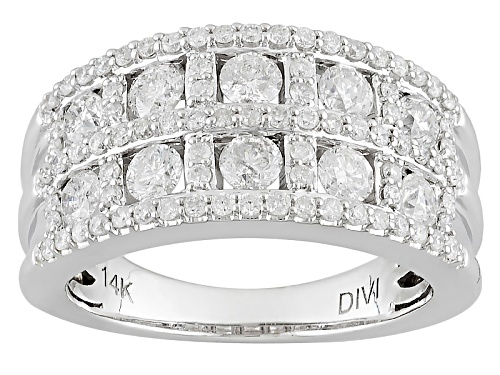 Photo of 1.50ctw Round White Diamond 14k White Gold Ring - Size 7