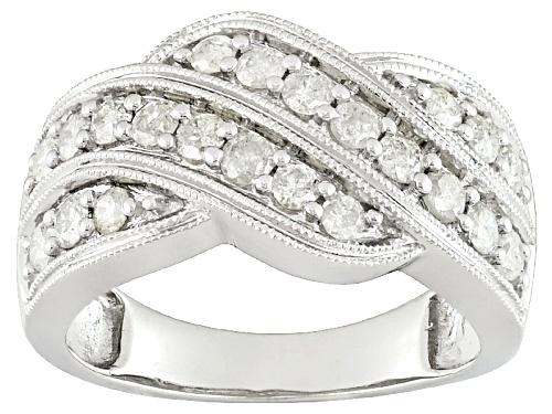 Photo of .90ctw Round White Diamond 10k White Gold Ring - Size 7