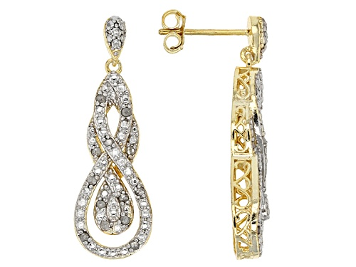 Photo of Emulous™ .25ctw Round Diamond 18k Yellow Gold Over Brass Earrings