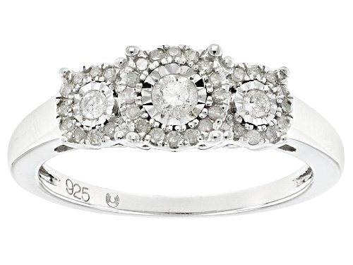 Photo of .25ctw Round White Diamond Rhodium Over Sterling Silver Ring - Size 7