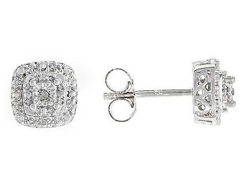 Photo of Emulous™ Diamond Accent Rhodium Over Brass Earrings