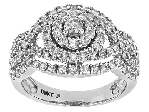 Photo of 1.05ctw Round White Diamond 10k White Gold Ring - Size 8