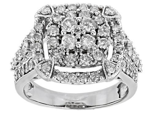 Photo of 1.60ctw Round White Diamond 10k White Gold Ring - Size 7