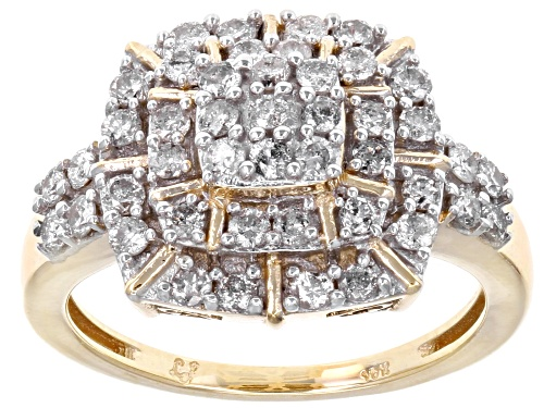 1.00ctw Round White Diamond 10k Yellow Gold Ring - Size 7