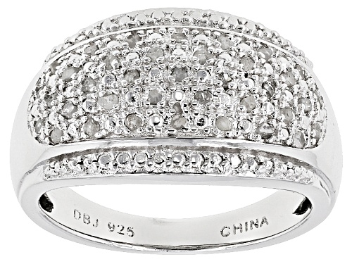 Photo of .25ctw Round White Diamond Rhodium Over Sterling Silver Ring - Size 5
