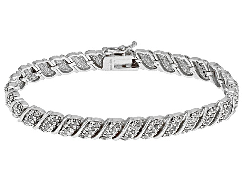 Photo of Emulous™ 1.00ctw Round White Diamond Rhodium Over Brass Bracelet - Size 7.25