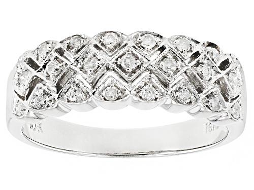 Photo of .25ctw Round White Diamond 10K White Gold Ring - Size 7