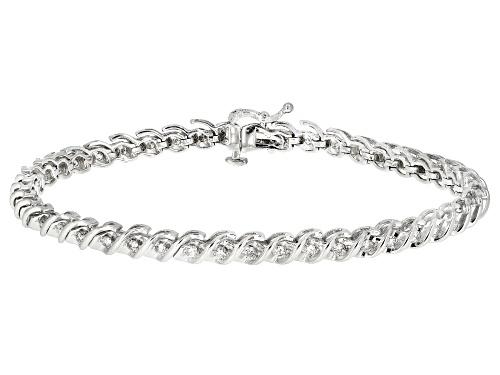 Photo of 1.00ctw Round White Diamond 10k White Gold Bracelet - Size 7.25