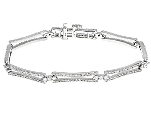 Photo of 2.00ctw Round White Diamond 14k White Gold Bracelet - Size 7