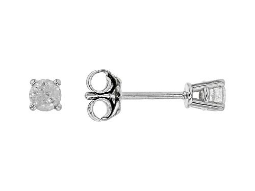 Photo of 0.20ctw Round White Diamond 10k White Gold Earrings