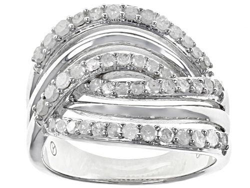 Photo of 0.75ctw Round White Diamond Rhodium Over Sterling Silver Ring - Size 7