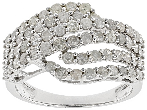 Photo of 1.50ctw Round White Diamond Rhodium Over Sterling Silver Ring - Size 7