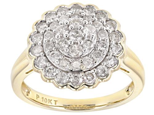 Photo of 0.95ctw Round White Diamond 10K Yellow Gold Ring - Size 7