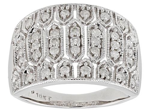 Photo of 0.50ctw Round White Diamond 10K White Gold Ring - Size 7