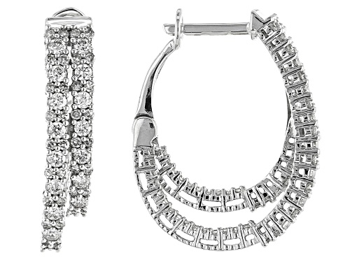 Photo of 1.00ctw Round White Diamond 10K White Gold Earrings