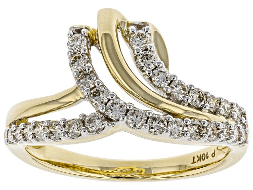Photo of 0.50ctw Round White Diamond 10K Yellow Gold Ring - Size 9
