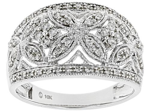 Photo of 0.33ctw Round White Diamond 10K White Gold Ring - Size 7