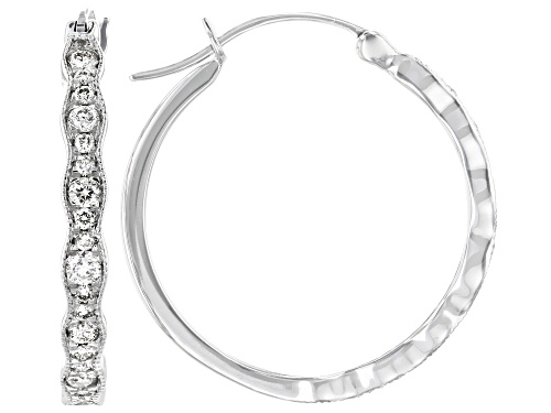Photo of 0.48ctw Round White Diamond 10K White Gold Earrings