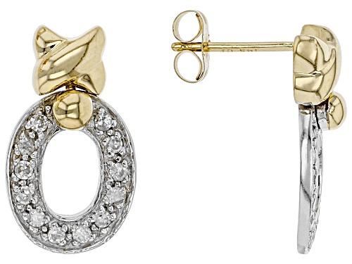 Photo of 0.25ctw Round White Diamond 14K Two-Tone Gold Earrings