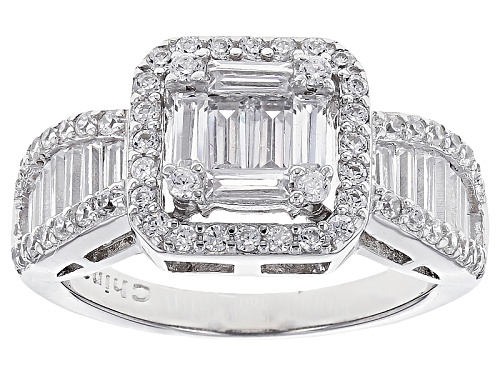 Photo of Bella Luce ® 2.32ctw Rhodium Over Sterling Silver Ring - Size 12