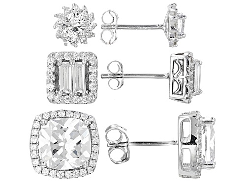 Photo of Bella Luce ® 9.00ctw Rhodium Over Sterling Silver Earrings- Set Of 3