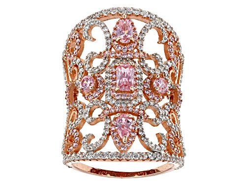 Bella Luce ® 6.43ctw Pink And White Diamond Simulants Eterno ™ Rose Ring - Size 7