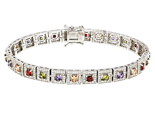 Photo of Bella Luce ® 10.08ctw Multicolor Gemstone Simulants Rhodium Over Sterling Silver Bracelet - Size 8