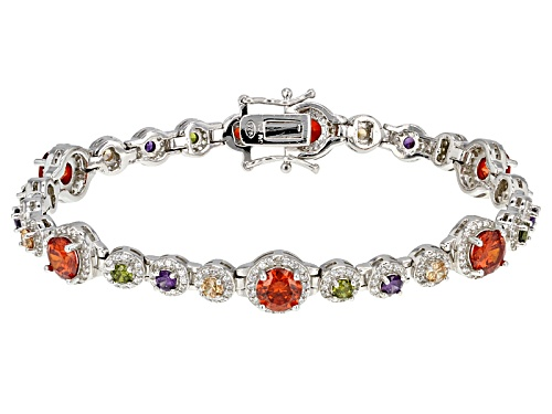 Photo of Bella Luce ® 24.51ctw Multicolor Gemstone Simulants Rhodium Over Sterling Silver Bracelet - Size 7.25