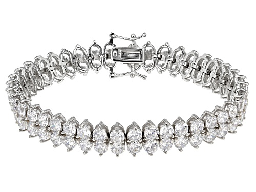 Photo of Bella Luce® 35.26ctw Rhodium Over Sterling Silver Bracelet - Size 7.25