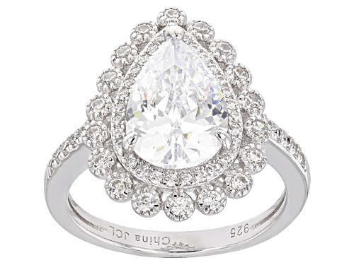 Photo of Bella Luce ® 5.85ctw Rhodium Over Sterling Silver Ring - Size 10