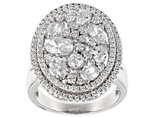 Photo of Bella Luce®4.00ctw Rhodium Over Sterling Silver Ring - Size 5