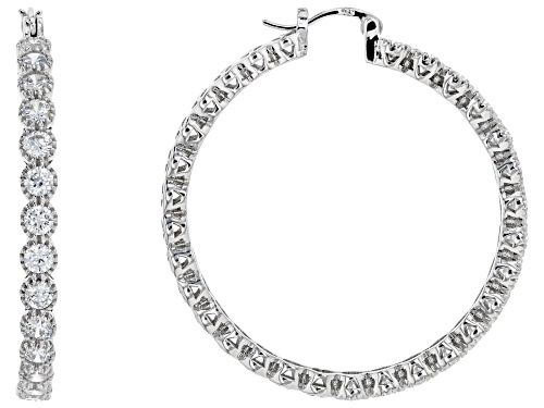 Photo of Cubic Zirconia Hoop Earrings 5.13ctw